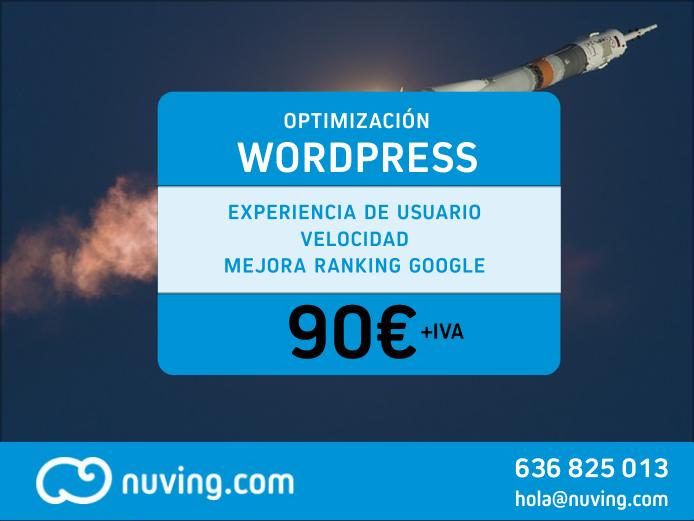 Optimización Control y Velocidad de Wordpress